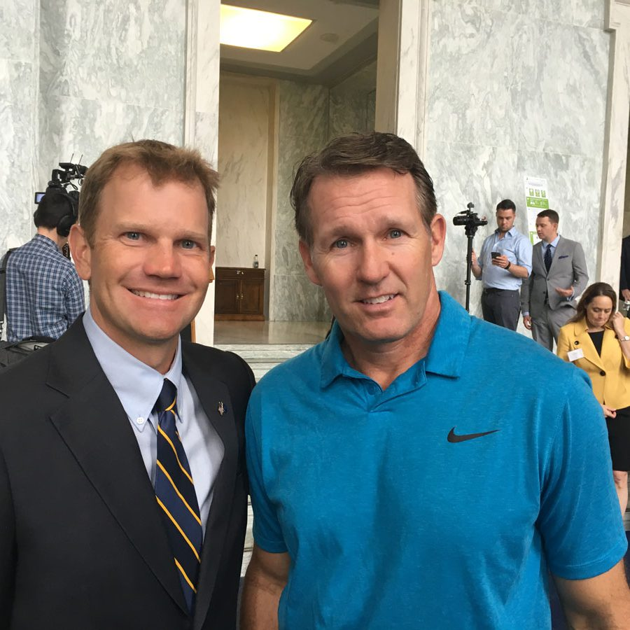 Billy Hurley III & Dan Jansen at National Golf Day