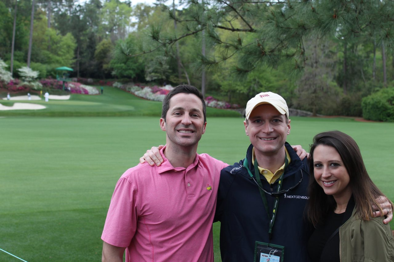 Glenn Gray (Buffalo.Agency), Kris Hart (CEO, Nextgengolf) and Jane MacNeille (Director or Corporate Communications, Greg Norman Company and former Buffalo). All three are members of the GOLF 20/20 Millennial Task Force.