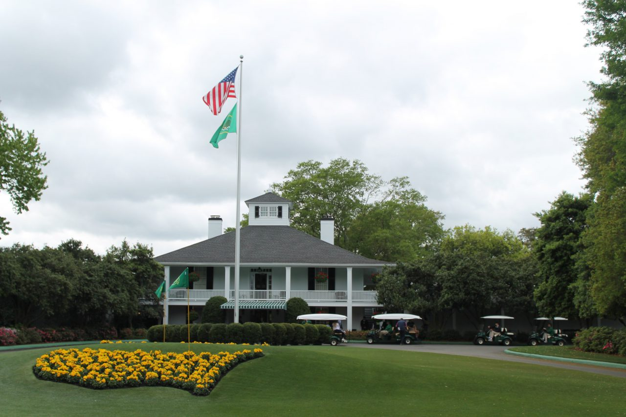 The Masters Tournament Clubhouse, where you can take a picture Monday through Wednesday.