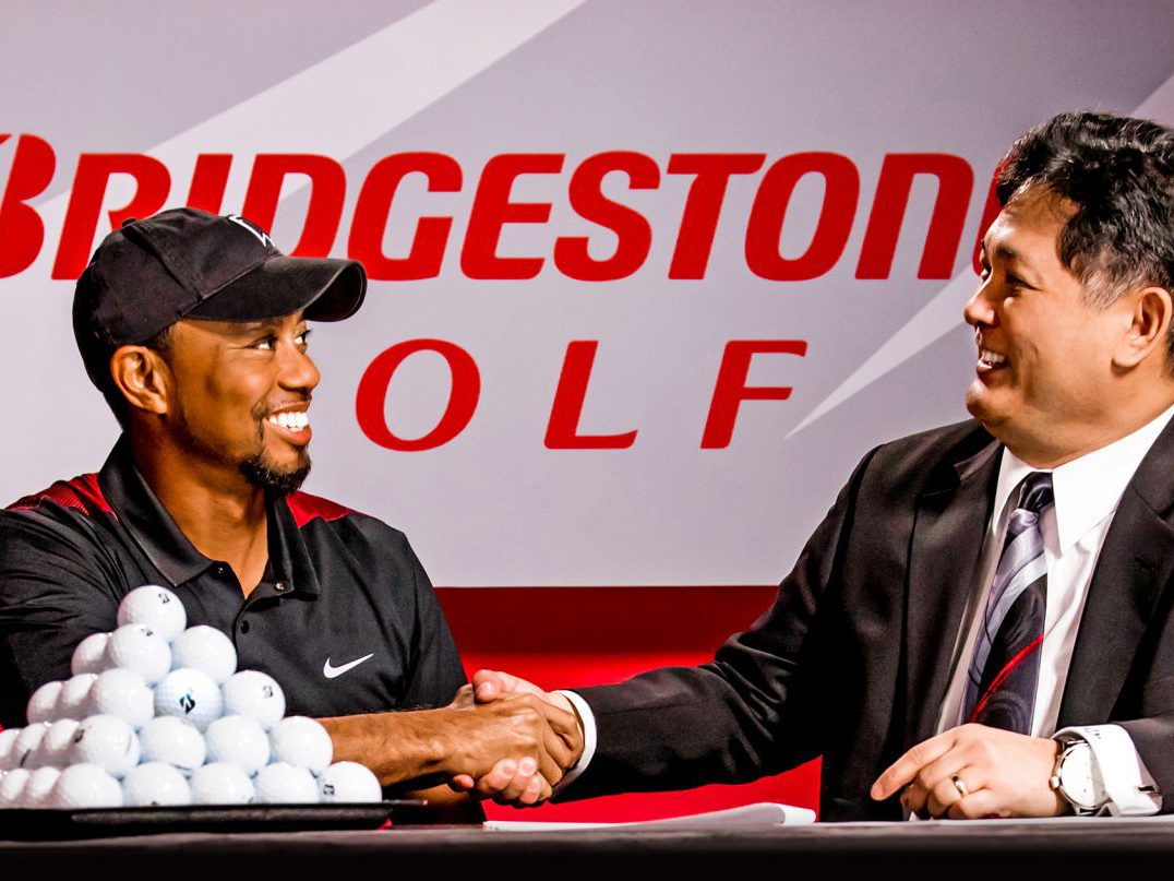Bridgestone Golf Tiger Signing