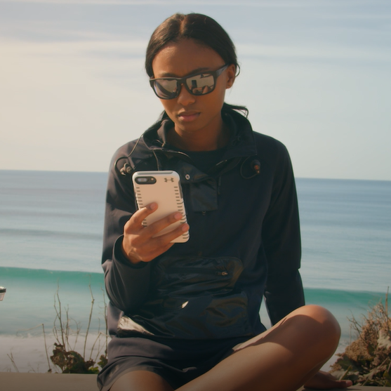 Under Armour Eyewear Woman on Beach